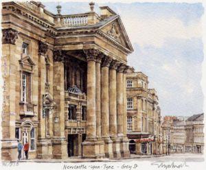 Newcastle - Grey Street by Glyn Martin