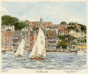 Dartmouth from river by Glyn Martin