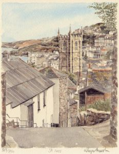 St. Ives - down hill by Glyn Martin