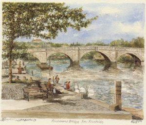 Richmond Bridge from Riverside by Philip Martin
