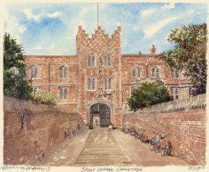 Cambridge - Jesus College by Philip Martin