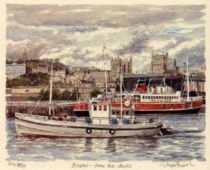 Bristol - from docks by Glyn Martin