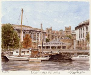 Bristol - from the docks by Glyn Martin