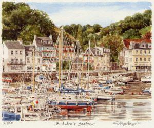 Jersey - St. Aubin's Harbour by Glyn Martin