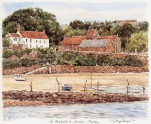 Jersey - St. Brelade's Church by Glyn Martin