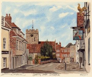 Guildford - Quarry Street by Philip Martin