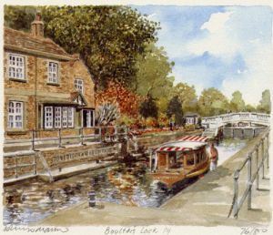 Boulter's Lock From Bridge by Philip Martin