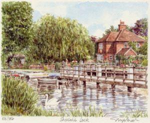 Shiplake Lock by Glyn Martin