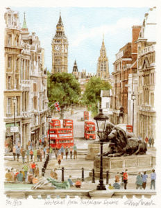 Whitehall from Trafalgar Sq. by Glyn Martin