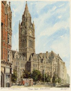Manchester - Town Hall by Philip Martin