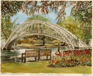 Bedford - Suspension Bridge by Philip Martin