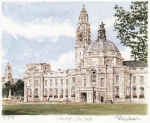 Cardiff - City Hall by Glyn Martin