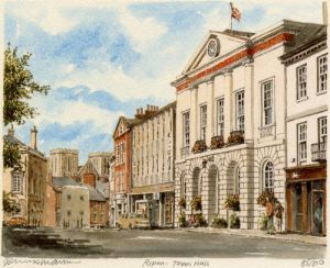 Ripon - Town Hall by Philip Martin