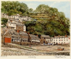 Clovelly - Harbour by Glyn Martin