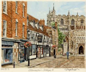 Gloucester - College Street by Glyn Martin