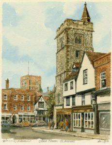 St. Albans - Clocktower by Philip Martin