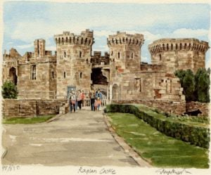 Raglan Castle by Glyn Martin