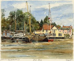 Pin Mill - Butt & Oyster by Philip Martin