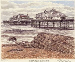 Brighton - West Pier by Glyn Martin