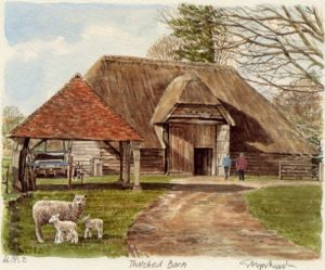 Thatched Barn by Glyn Martin