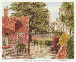 Canterbury - River at Westgate by Glyn Martin