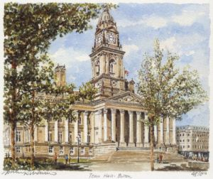 Bolton - Town Hall by Philip Martin
