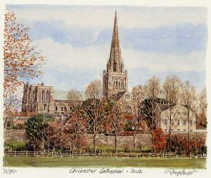 Chichester Cathedral - South by Glyn Martin