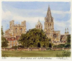 Christ Church & Oxford Cath. by Glyn Martin