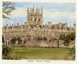 Oxford - Merton College by Glyn Martin