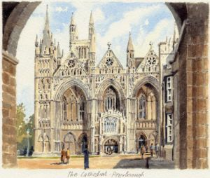 Peterborough Cathedral by Philip Martin