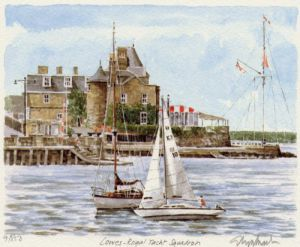 Cowes - Royal Yacht Squadron by Glyn Martin