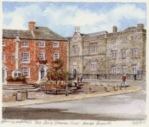 Market Bosworth - Dixie Gr School by Philip Martin
