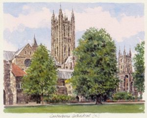 Canterbury Cathedral.N. landscape by Glyn Martin