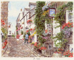 St Ives - street scene by Glyn Martin