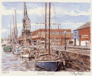Bristol Docks by Glyn Martin