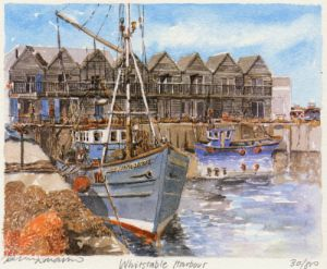 Whitstable Harbour by Philip Martin