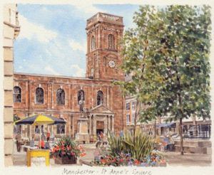 Manchester - St Anne's Square by Glyn Martin