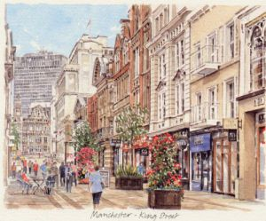 Manchester-King Street (landscape) by Glyn Martin