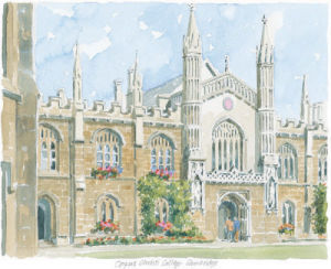 Corpus Christi College - Cambridge by Philip Martin