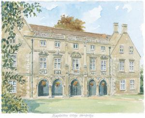 Magdalene College - Cambridge by Philip Martin