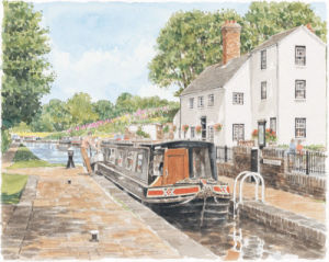 Stewponey Lock by Glyn Martin