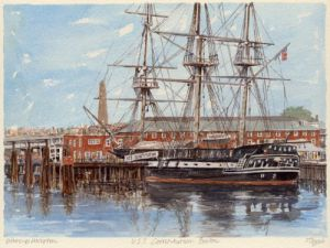 Boston - USS Constitution by Philip Martin