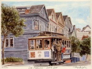 San Francisco - Cable Car by Glyn Martin