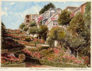 San Francisco - Lombard Street by Glyn Martin