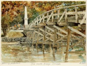 Concord - Old North Bridge by Philip Martin