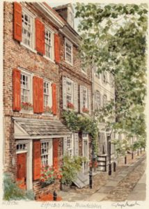 Philadelphia - Elfreth's Alley by Glyn Martin