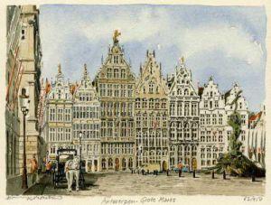 Antwerpen - Grote Markt by Philip Martin