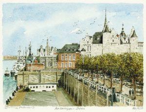 Antwerpen - Steen by Philip Martin
