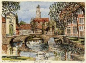 Brugge - Begijnhof by Philip Martin