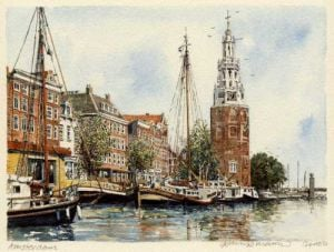 Amsterdam - Clock Tower by Philip Martin